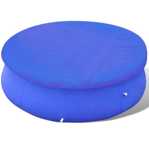 Bâche de piscine ronde en PE 450 - 457 cm 90 g/m²