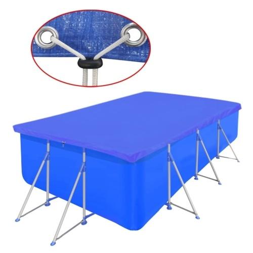Bâche piscine rectangulaire en PE 540 x 270 cm 90 g/m²