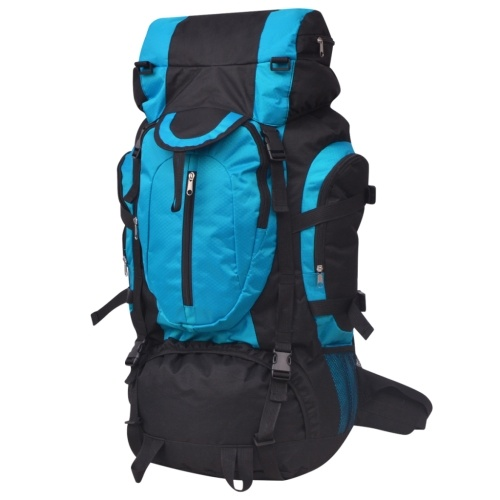 hiking backpack xxl 75 l black and blue