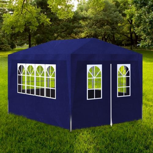 10 'x 13' Party Tent bleu avec 4 Murs