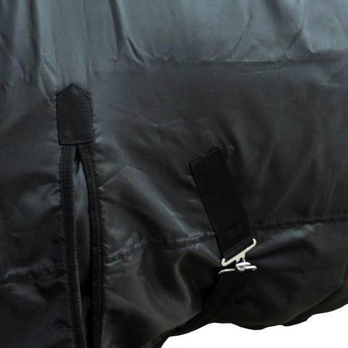 horse blanket wool double layer 135 cm Black