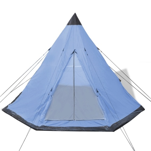 camping tent for 4 people blue