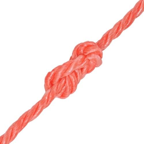 Braided polypropylene rope 12 mm 100 m orange