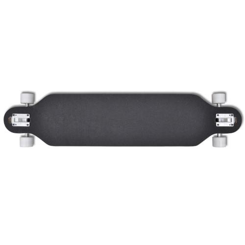 Longboard Skateboard Star 107 cm 9 strati in acero 22,5 cm truck blu