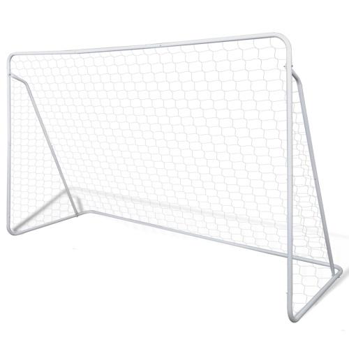 Set Porta da calcio in acciaio 240 x 90 x 150 cm di alta qualità