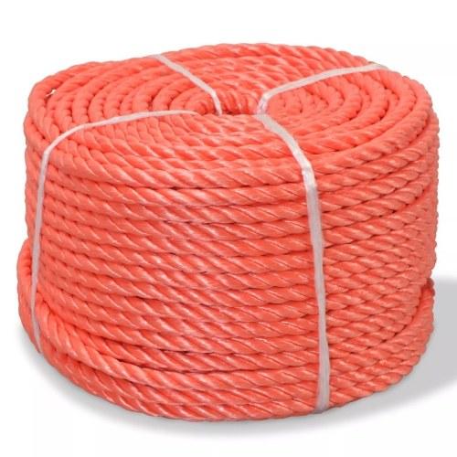 Corde tressée en polypropylène 8 mm 200 m Orange