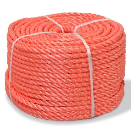 Polypropylene Braided Rope 12 mm 100 m Orange