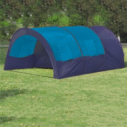Polyester-Camping-Zelt 6 Personen Blau-Dunkelblau