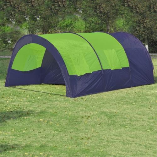 Poliestere tenda da campeggio 6 Persone blu-verde