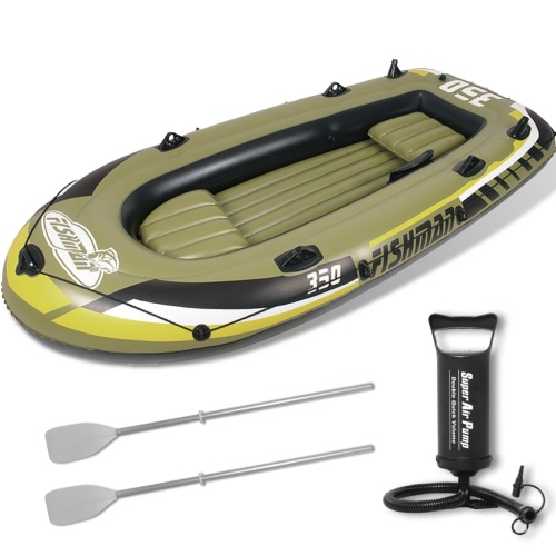 Fishman inflable Barco con la bomba y las paletas de 305 cm