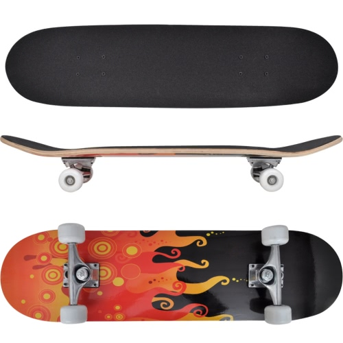 Ovale Form Skateboard 9 Ply Maple Feuer Design 8