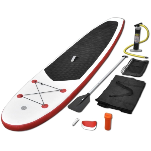 por tabla de surf inflable roja White Table