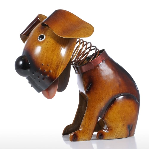 Shakes Head Puppy Iron Handmade Spring Wire Puppy Figur