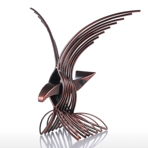 Eagle Handmade Fortune Hawk Statue Home Office Decoration Gift Wild Figurine Decor Collectible
