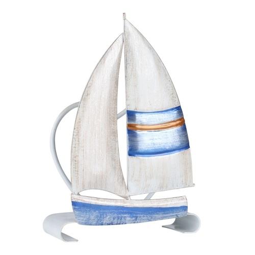 Tooarts Segelboot Serviettenhalter Eisenserviettenhalter Kreative Verzierung Hotel Papieretui Küchenpapierhalter Tischdekoration und Veredelung