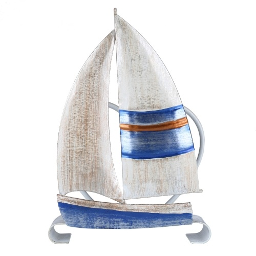 Tooarts Sailing Boat Napkin Holder Iron Napkin Holder Creative Ornament Hotel Paper Case Kitchen Paper Holder Table Decoration and Finishing