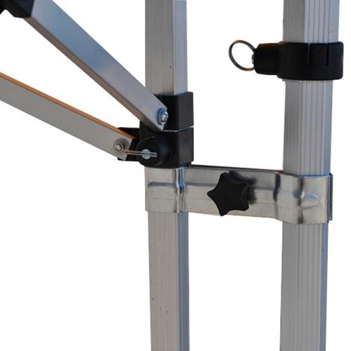 Connecteur tente pliante Alu 40 et comptoir section hexagonale 40mm - lot de 4