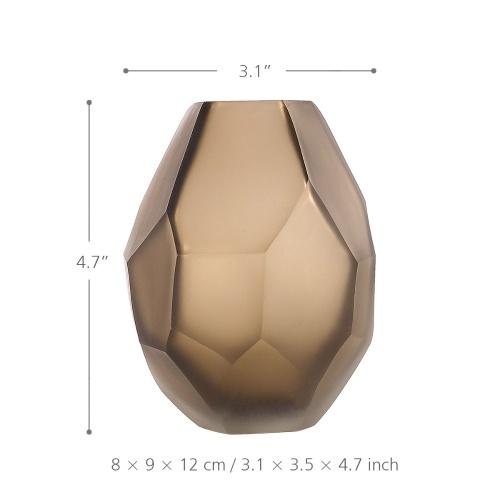 Шоколадная стеклянная ваза с уникальной формой Цветочная ваза Маленькая и элегантная ваза Декоративная ваза для домашнего декора офиса Место Настройки фото