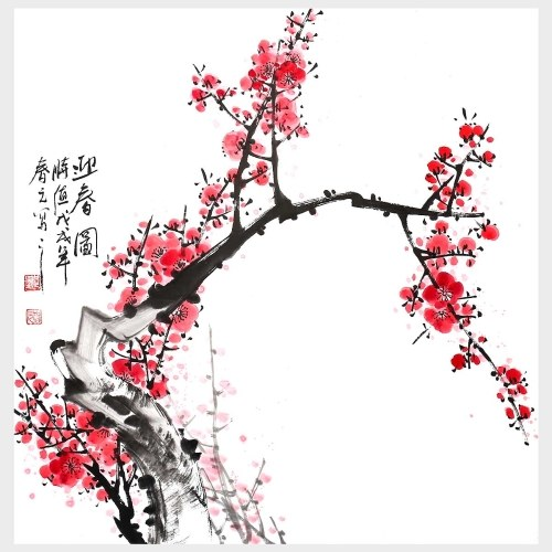Traditional Chinese Art Spring Modern Home Decor Chinese Ink Painting Wall Art Hanging Art