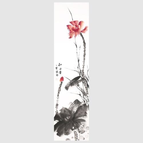 Images de fleur de lotus pour la maison salon décoration murale oeuvre suspendue art peinture à l'encre de Chine