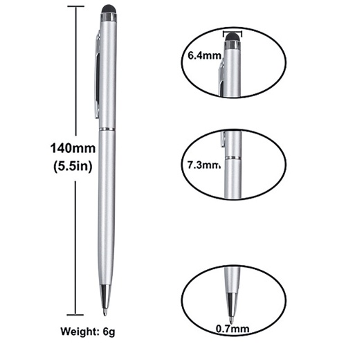 Factory direct handwriting capacitive pen dual-use stylus ball smart phone universal handwriting capacitive touch screen pen Sky