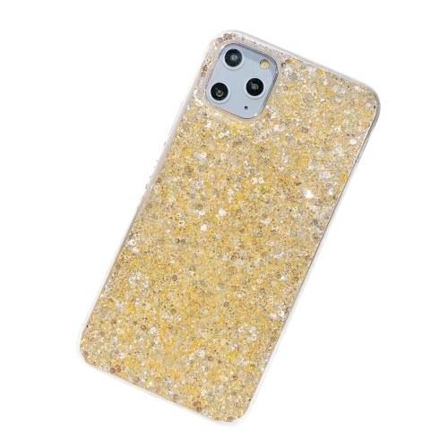 Подходит для мобильного телефона iphone11pro небольшой свежий порошок эпоксидная смола Apple XSMAX новый 8plus защитный рукав 7 Золото