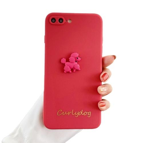 Weiche TPU 3D-Telefonhülle mit niedlichem Tier-Cartoon-Hundedesign Gold-Stamping Character Ganzkörper-Schutzschutz Rutschfeste Handyhülle Rückabdeckung Stoßstange Stoßfeste Hülle Für iPhone