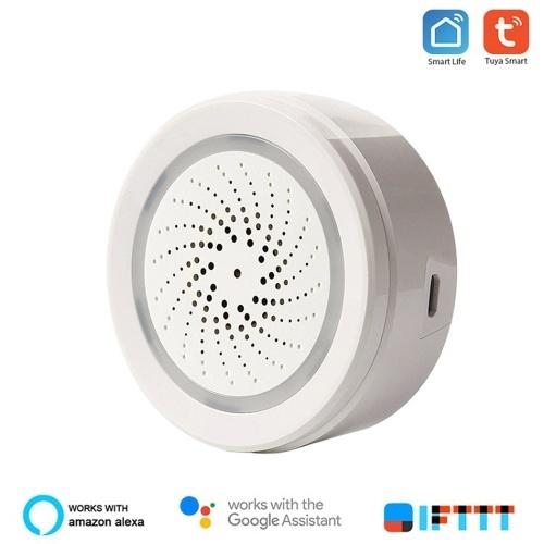 Sensor de temperatura e umidade WiFi Detector de ambiente Alarme de casa inteligente Consumo de baixa energia