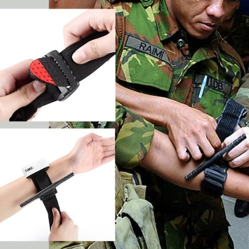 Tourniquet Outdoor First Aid Training Tactic Arterial Training Tactical Artery Tourniquet One-Hand Spinning, TOMTOP  - buy with discount