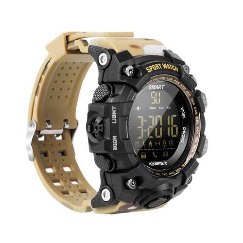 EX16S Camouflage Outdoor Sports Intelligent Watch Intelligent BT Telecomando Orologio da polso
