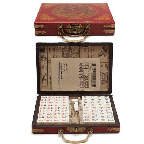 Chinese Numbered Mahjong Set 144 Tiles Mah-Jong Set
