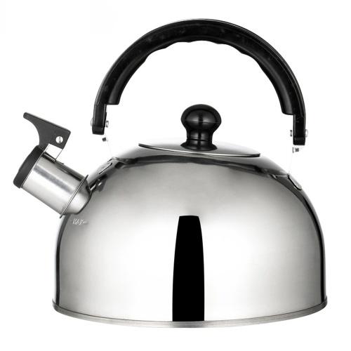 Chaleira de chá leve de aço inoxidável 2,5 L / 84 onças Bule de acampamento Bule de fervura rápida Chaleira