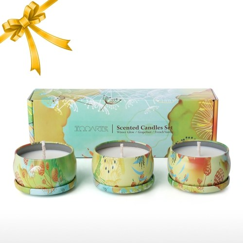 Tooarts| Scented Candle| 100% Natural Soy Wax| Long Last Clean Burning| Exquisite Gift Box Package| Charming Fragrance| Refresh Air| Perfect Gift| Home Decor