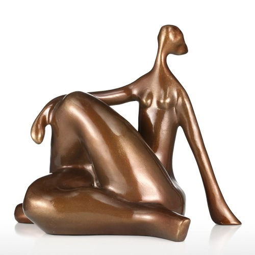 Tomfeel Plump Woman Yoga Hunker Fibre de verre Sculpture Design d'origine