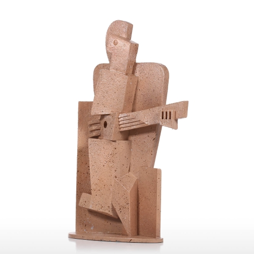 Musician Creative Home Decoration Sandstone Texture Feeling Crafts Abstract Character Sculpture Living Room Furnishings