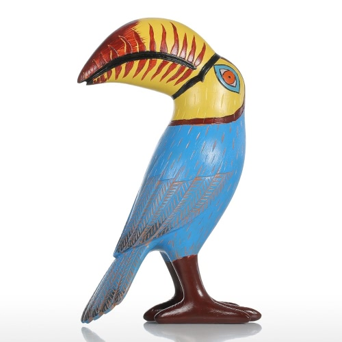 Tooarts Big Mouth Toucan Bird Resin Sculpture Fiberglass Ornament Indoor Decor Statue Figurine Abstract Exaggerate Modern Art