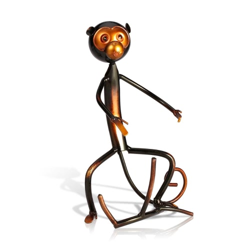 Tooarts Metal sculpture Monkey shaped wine rack Wine bottle holder Home furnishing articles Handicrafts