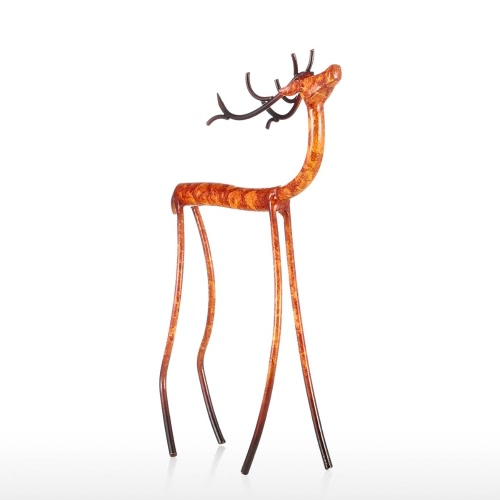 Raise Head Red Deer Tooarts Iron Sculpture Home Decoration Crafts Animal Sculpture