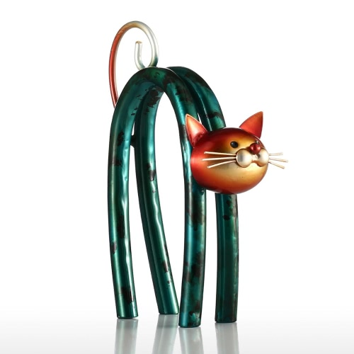 Spring Little Cat Tooarts Metal Sculpture Iron Sculpture Abstract Sculpture Modern Sculpture Home Decoration Ornament Gift