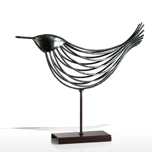 Iron Wire Bird Tooarts Metal Sculpture Home Decoration Creative Sculpture Bird