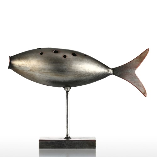 Submarine Poisson Tooarts Métal Sculpture Décoration Creative Sculpture poisson