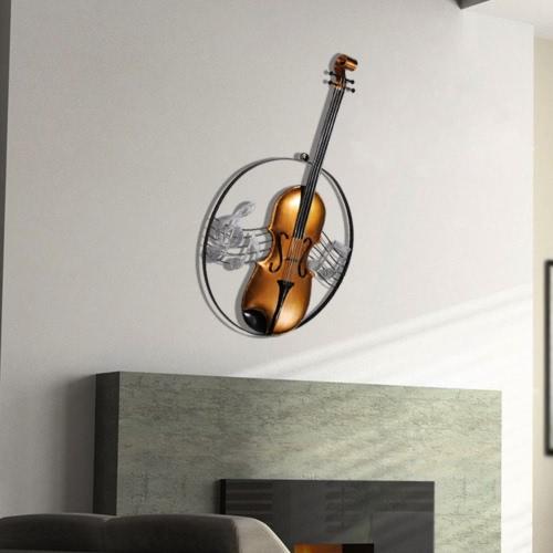 Tooarts Скрипка висячие украшения Домашний декор гобелены Декор музыкальный инструмент Craft подарок