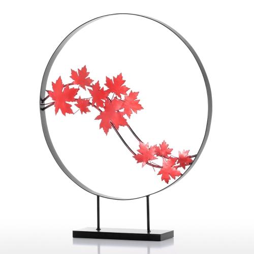 Deux cercles Sculpture en fer Sculpture abstraite Sculpture moderne Cercle de fer Décoration d'intérieur Art moderne et concis