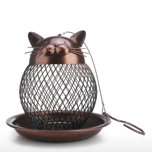 Cat Shaped Bird Feeder Cat Shaped Vintage Handmade Outdoor Decoration Villa Garden Decoration