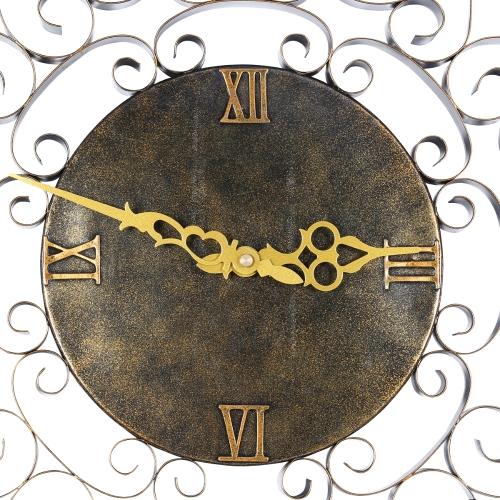 Sun-shaped Wall Clock Hanging Clock Vintage Clock Silent Clock Non-ticking Battery Operated Clock