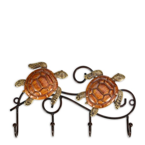 Tooarts Iron Wall Hanger Vintage Design con 4 ganchos Coats Keys Bags Hanger Idea de regalo decorativa montada en la pared