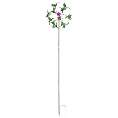 Eisen Art Craft Outdoor 3D Windspinner mit stabilem Eisenmaterial, reflektierender Bemalung und rostfreier Funktionswindmühle für Gartendekorationen im Freien
