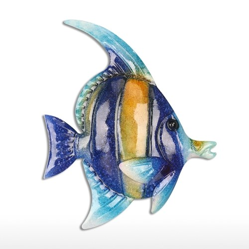 Tropical Fish Wall Hanging 1 Iron Wall Decor Creative Ornament Craft 7.9