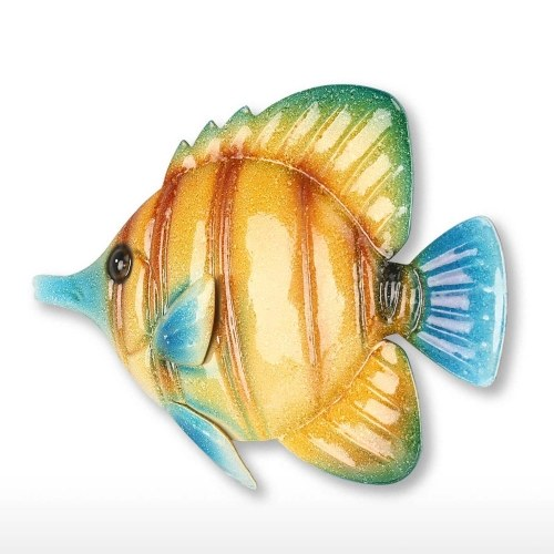 Tropical Fish Wall Hanging 1 Iron Wall Decor Creative Ornament Craft 10.2