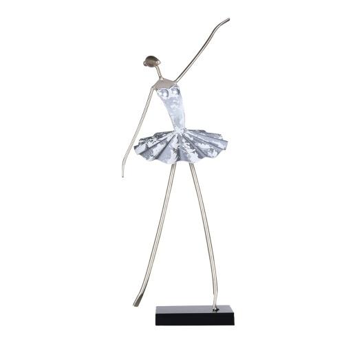 Tooarts Ballet Figurine Ballerina Statue Handmade Iron Sculpture Ballet Girl Character Decoration Living Room Dance Room Decor Gifts for Ballet Dancers